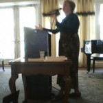 Photo--Speaking at Cardinal Point